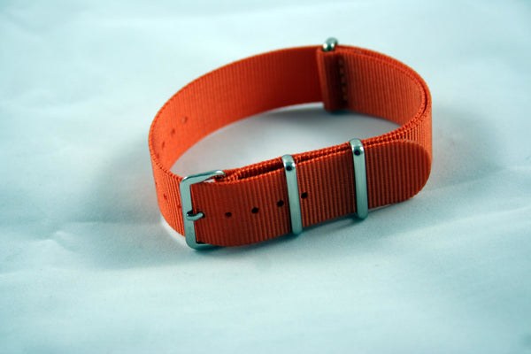 20mm Premium Orange Nylon - Cincy Strap Works