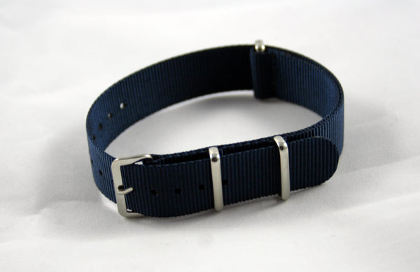 18mm Premium Navy Blue Nylon - Cincy Strap Works