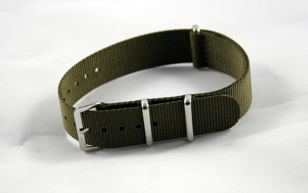 18mm Premium Olive Drab Nylon - Cincy Strap Works