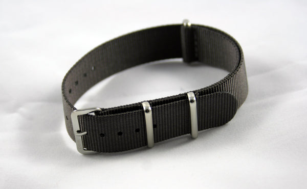 18mm Premium Gray Nylon - Cincy Strap Works
