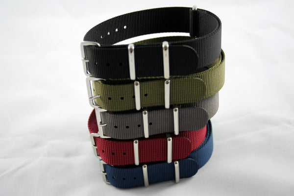 18mm Premium Black Nylon - Cincy Strap Works