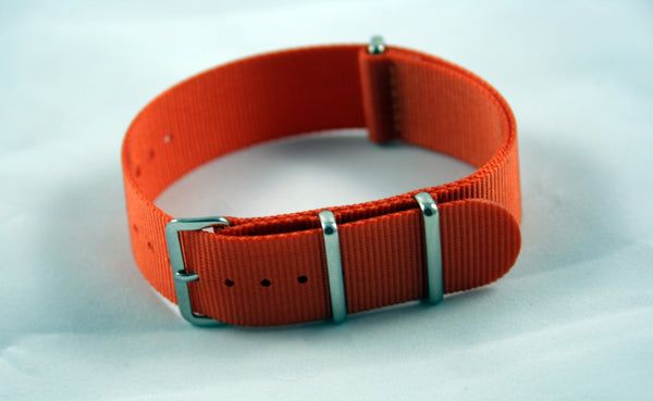 22mm Premium Orange Nylon Strap - Cincy Strap Works