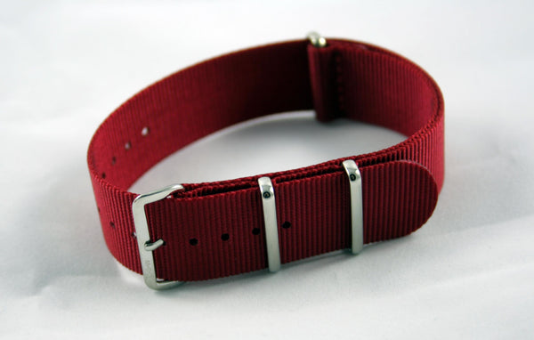 18mm Premium Dark Red Nylon - Cincy Strap Works