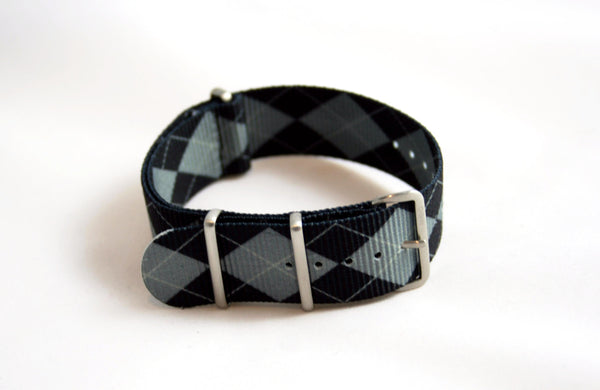 Black and Gray Argyle Premium Milspec Nylon