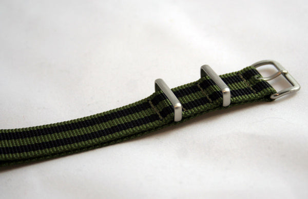 "18MM Premium ""Infantry"" Olive/Black stripe Nylon"