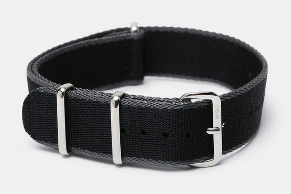 "22mm ""SB"" Black/Gray edges Seat Belt Strap - Cincy Strap Works"