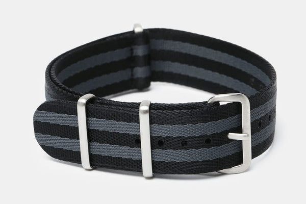 "20mm ""SB"" Black/Gray Bond Seat Belt Strap - Cincy Strap Works"
