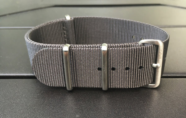 22mm Premium Charcoal Gray Nylon strap - Cincy Strap Works