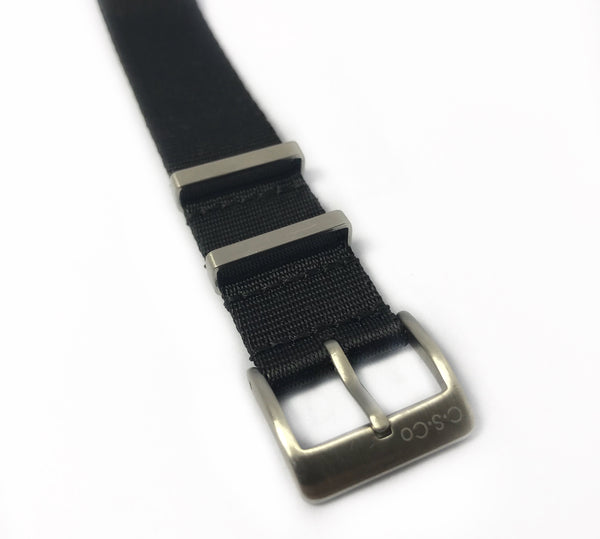 "22mm ""SB"" Solid Black Seat Belt Strap"