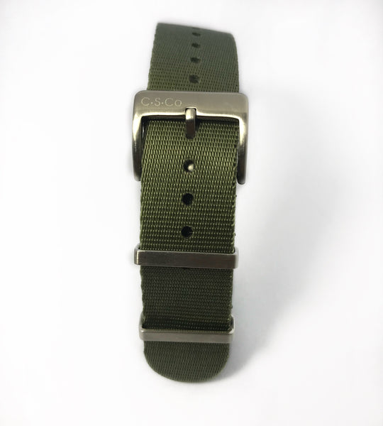 "20mm ""SB"" OD Green Seat Belt Strap"