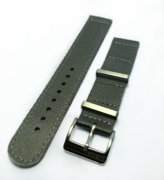 "20mm 2 Piece ""SB"" Gray Seat Belt Strap"