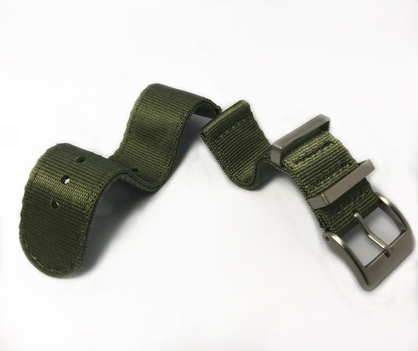 "20mm 2 Piece ""SB"" OD Green SB Seat Belt Strap"