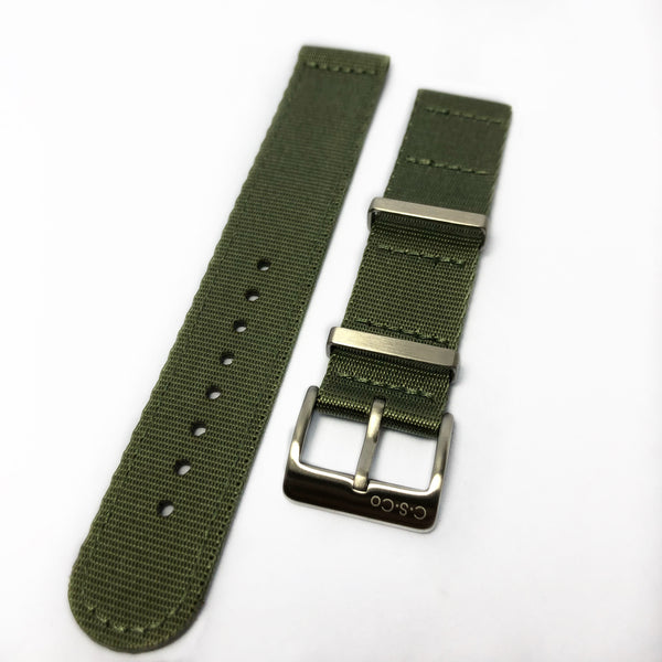 "22mm 2 Piece ""SB"" OD Green Seat Belt Strap"