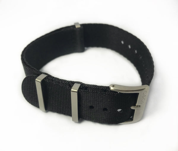 "20mm ""SB"" Solid Black Seat Belt Strap"