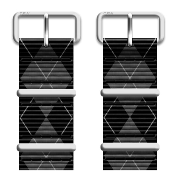 Black and Gray Argyle Premium Nato