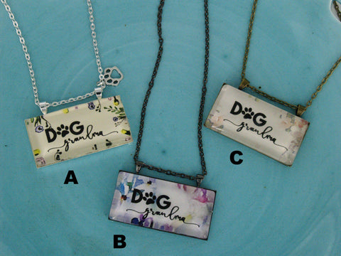 """Dog Grandma"" Necklace"