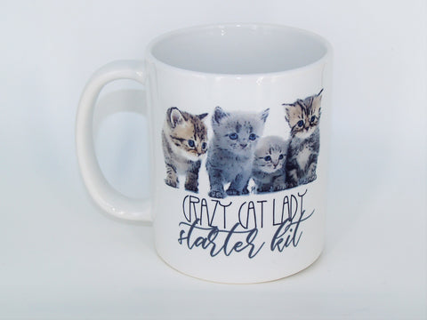 Crazy Cat Lady Starter Kit- Coffee mug