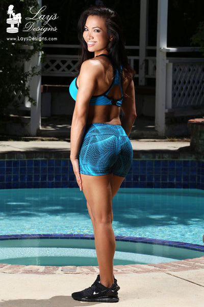Shorts - Blue Mystifying Scrunch Butt Shorts