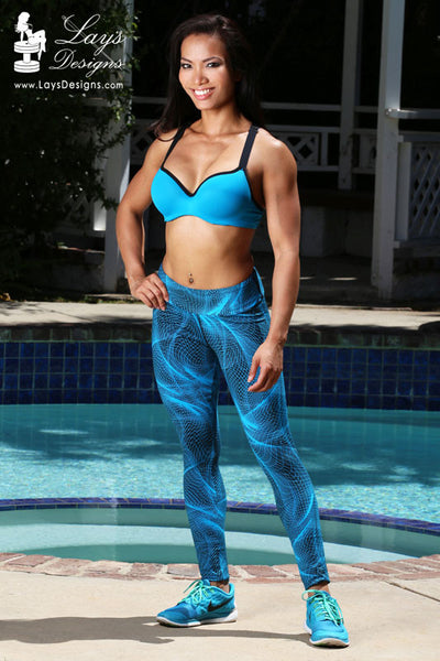 Leggings - Blue Mystifying Leggings