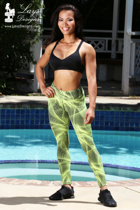 Leggings - Neon Green Mystifying Leggings