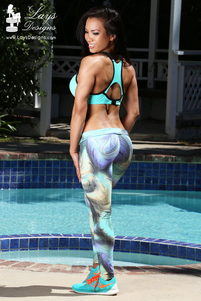 Leggings - Marble Green-Blue Truffula Leggings