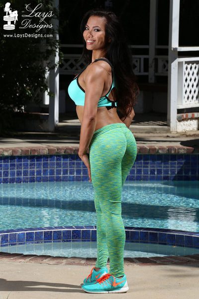Leggings - Neon Green Space Dye Leggings