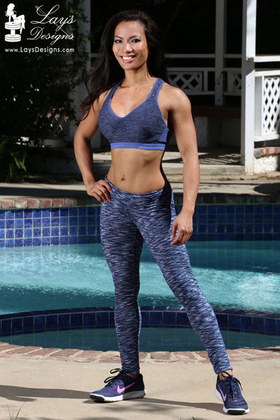 Leggings - Blue Space Dye Leggings