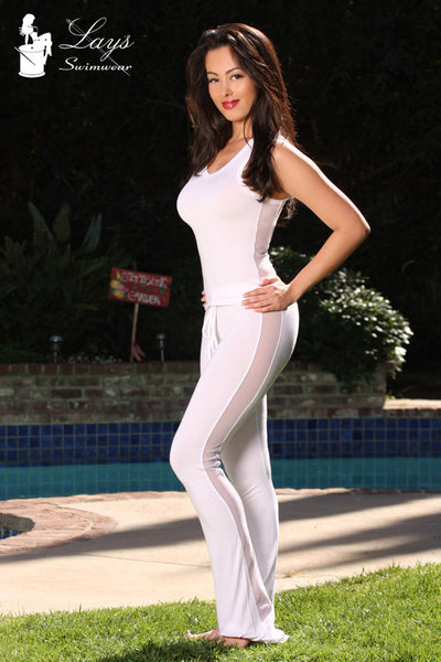 Elastic with Drawstring Side Mesh Yoga Pants Outfit with Scrunch Butt Detail