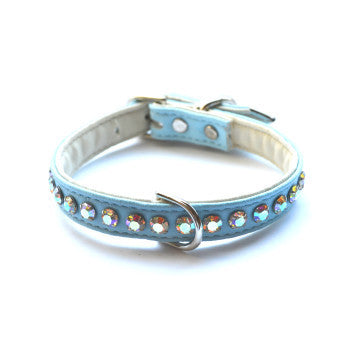 Ashley Designer Robin Egg Blue Dog Collar - Snooty Paws