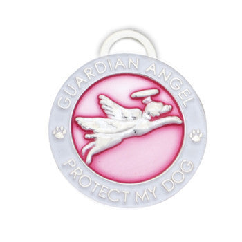 Pet Medallion Guardian Angel Available in Four Colours(22 mm) - Snooty Paws - 3