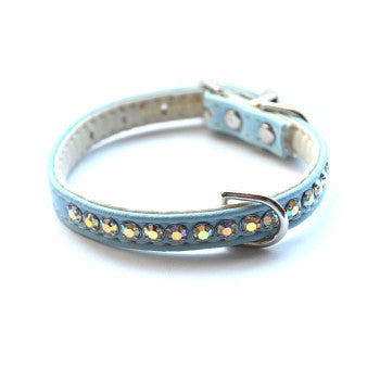 Jackie O Designer Blue Dog Collar - Snooty Paws