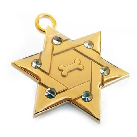 Star of David Pet Tag - Snooty Paws