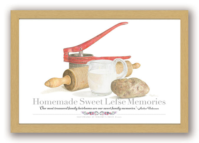 Homemade Sweet Lefse Memories Framed Print