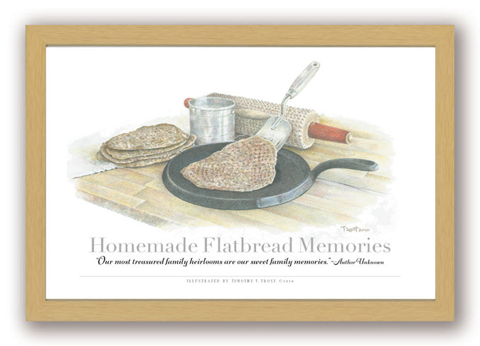 Homemade Flatbread Memories Framed Print