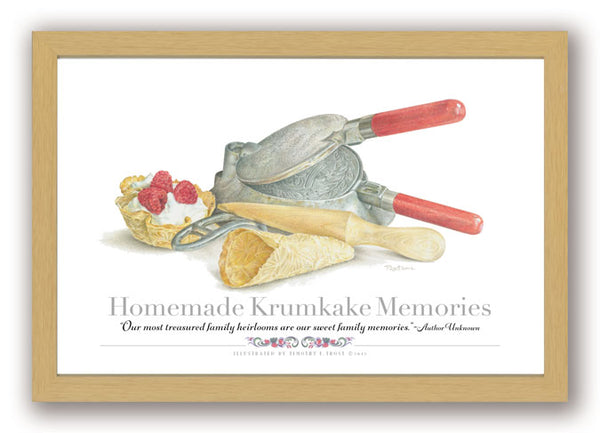 Homemade Krumkake Memories Framed Print