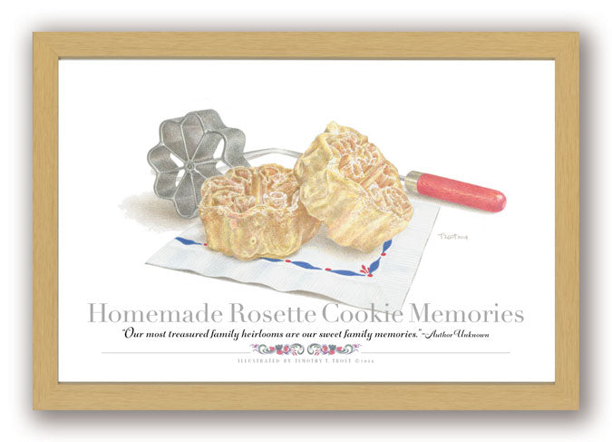 Homemade Rosette Cookie Memories Framed Print