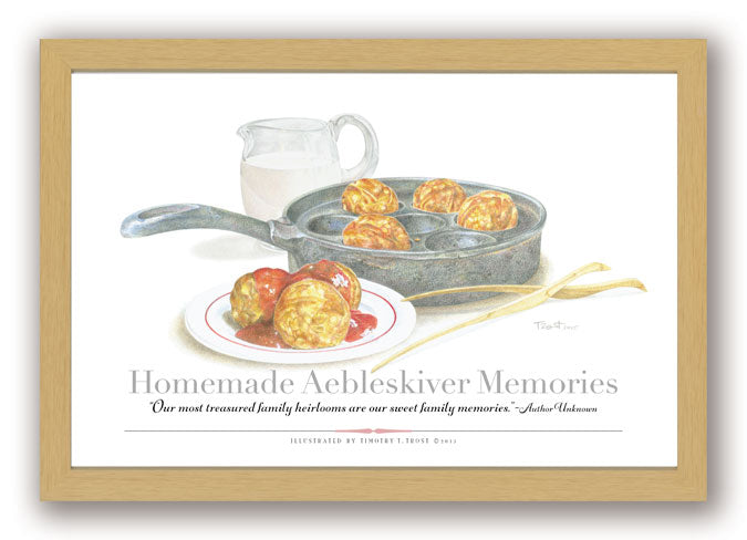 Homemade Aebleskiver Memories Framed Print