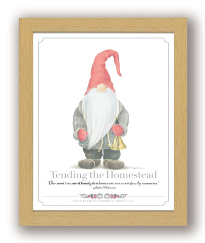 Tending the Homestead Framed Print