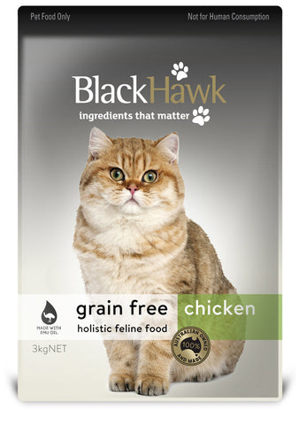 Black Hawk Adult Grain Free Chicken Dry Cat Food