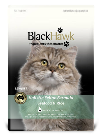 Black Hawk Adult Seafood and Rice Dry Cat Food