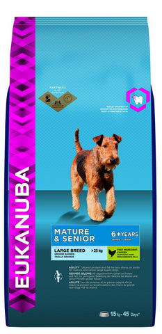 Eukanuba Mature and Senior Large Breed Chicken Dry Dog Food