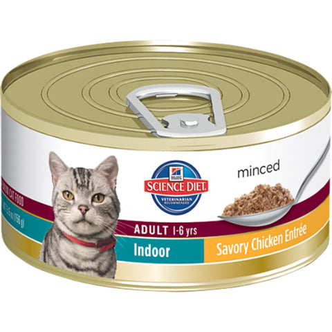 Hill's Science Diet Feline Adult Indoor Cat Savory Chicken Entree