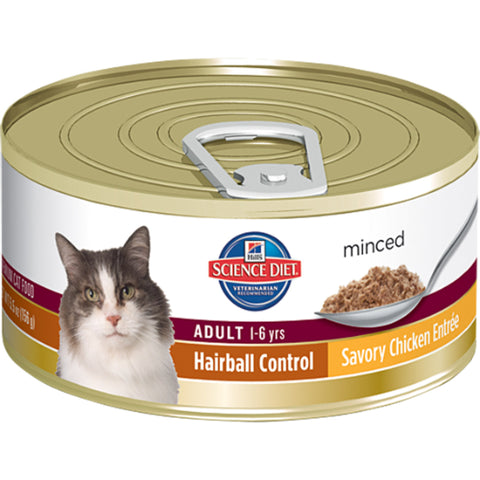 Hill's Science Diet Feline Adult Hairball Control Savory Chicken Entree