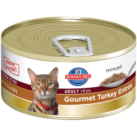 Hill's Science Diet Feline Adult Gourmet Turkey Entree