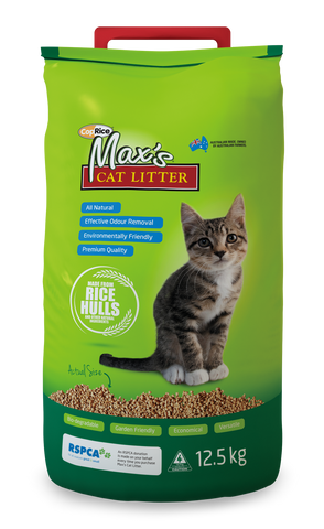 Max's All Natural Cat Litter - 12.5 kg Bag