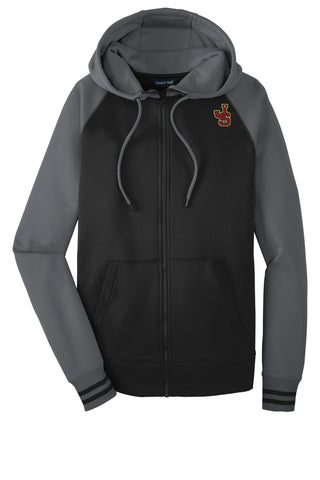 Moisture Wicking Full Zip Letterman Sweatshirt