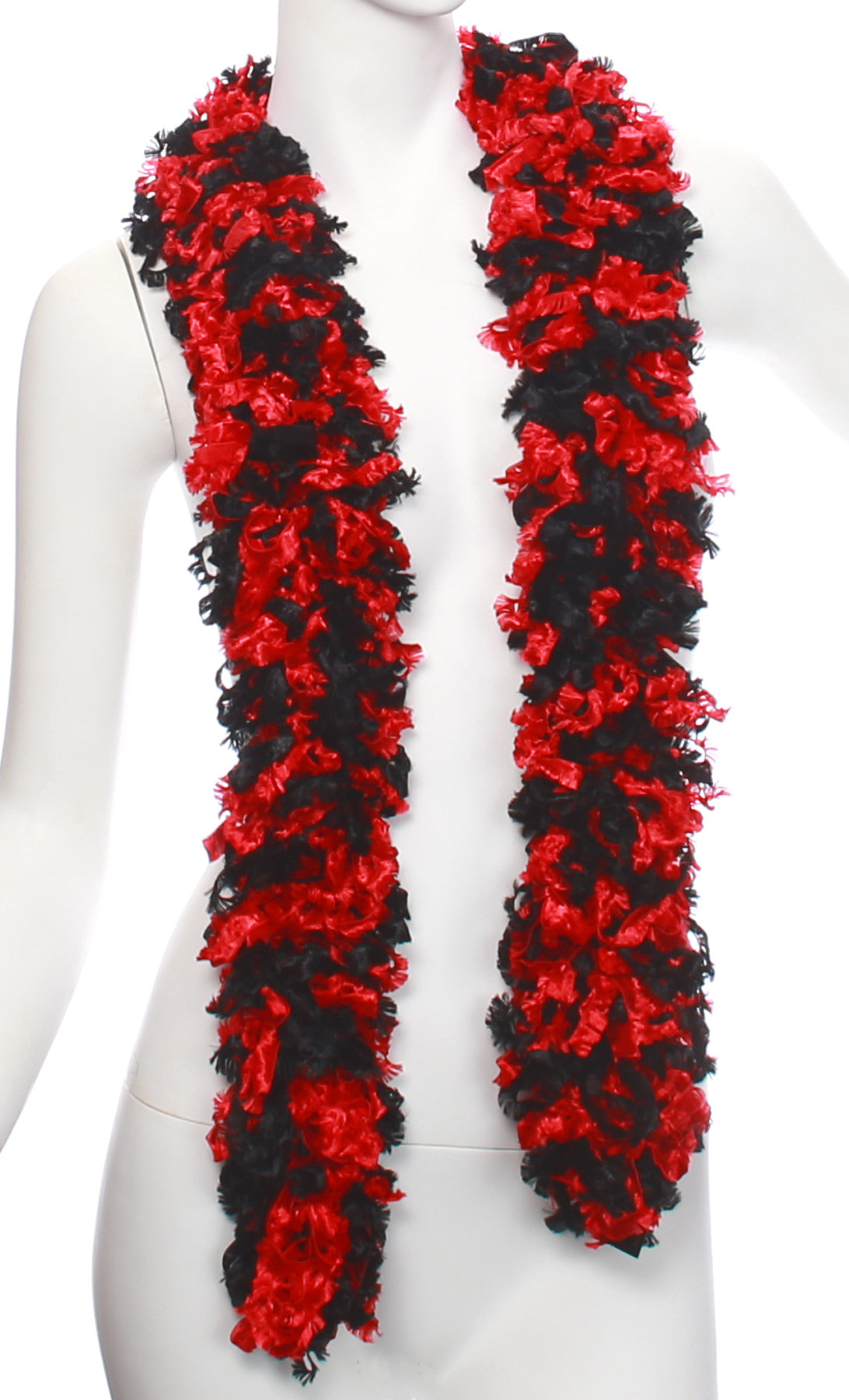 Original Featherless Boa - Black and Red