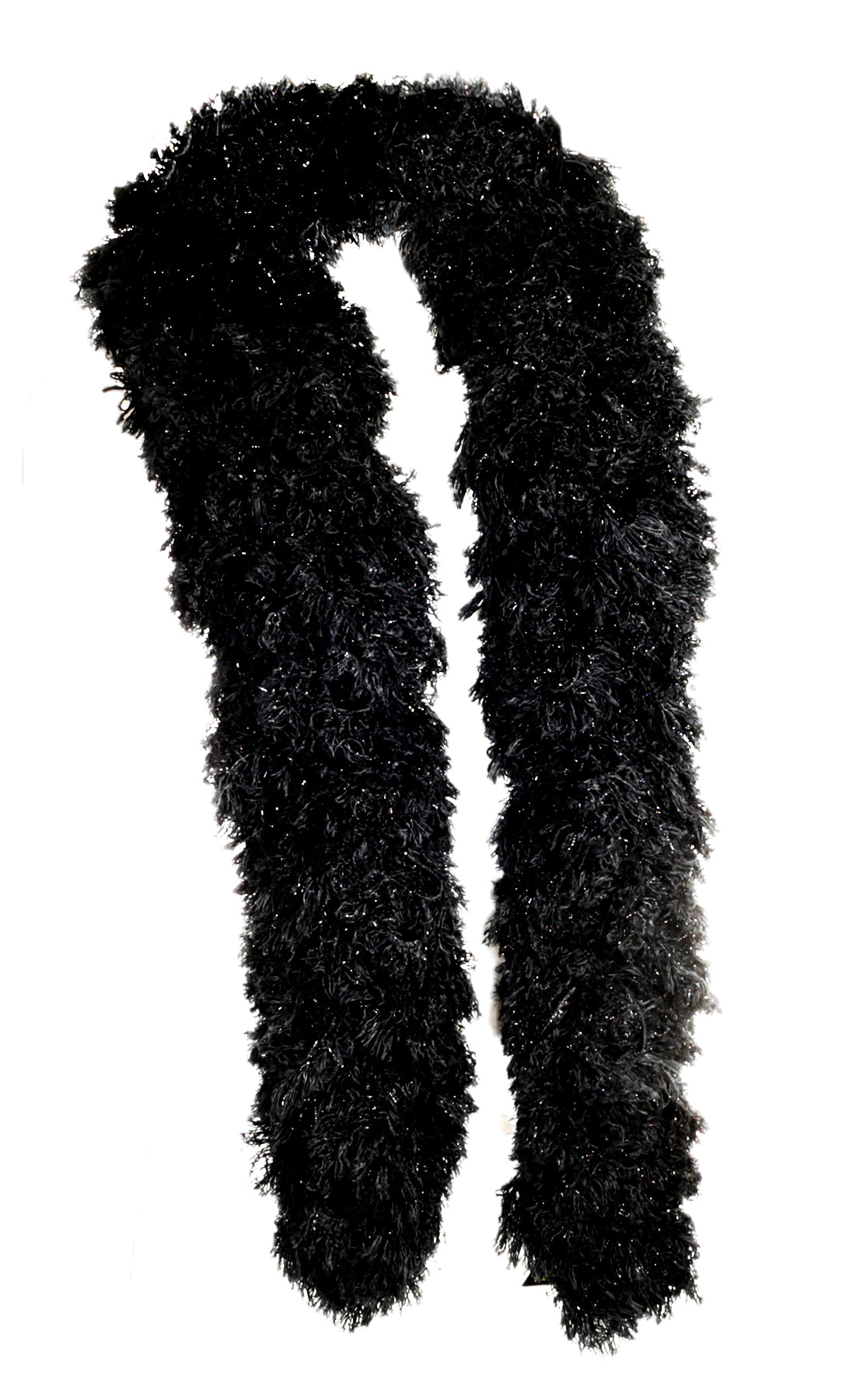 SUPER Sized Featherless Boa - Black - Happy Boa: Faux Feather Boa