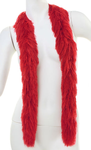 Faux Fur Festival Boa - Red - Happy Boa: Faux Feather Boa