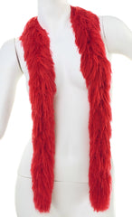 Faux Fur Festival Boa - Red
